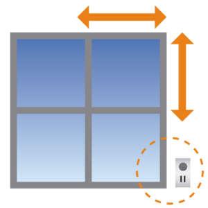 medir cortinas